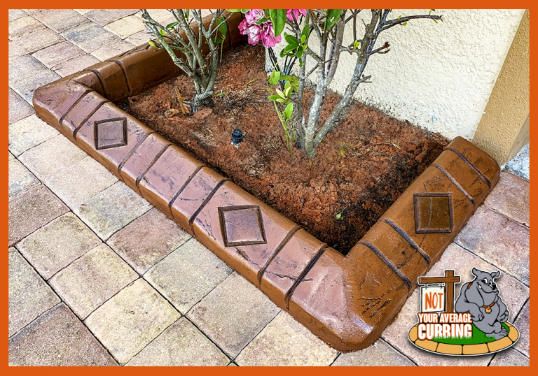 Not Your Average Curbing - Custom Stamped Curbing - Diamond