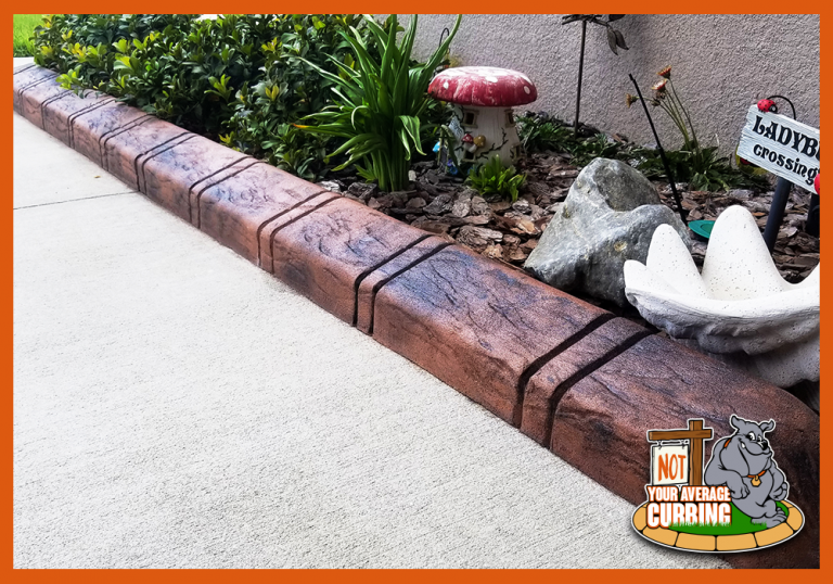 Not Your Average Curbing - Custom Stamped Curbing - Slate Tile