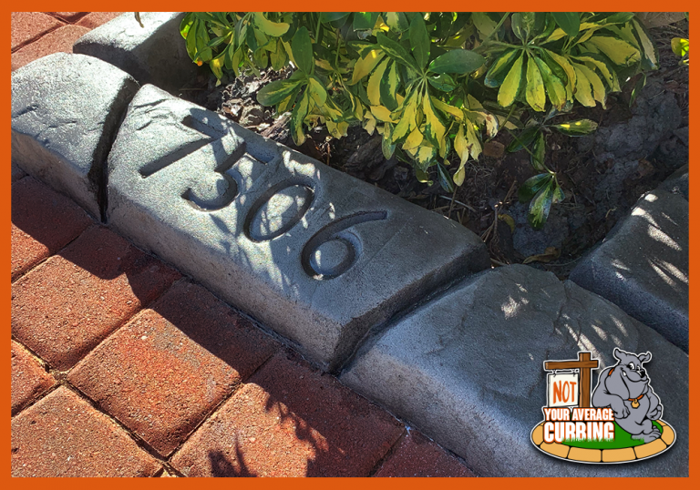 Not Your Average Curbing - Moroccan Natural Stone - Tangier Slate with Address Imprint